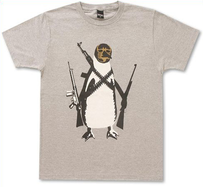 masked penguin t shirt the wired jester. Black Bedroom Furniture Sets. Home Design Ideas